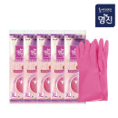 명진 고무장갑 특대 핑크x5개/위생 주방용