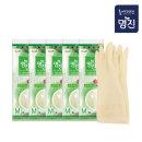 명진 고무장갑 중 아이보리x5개/위생 주방용