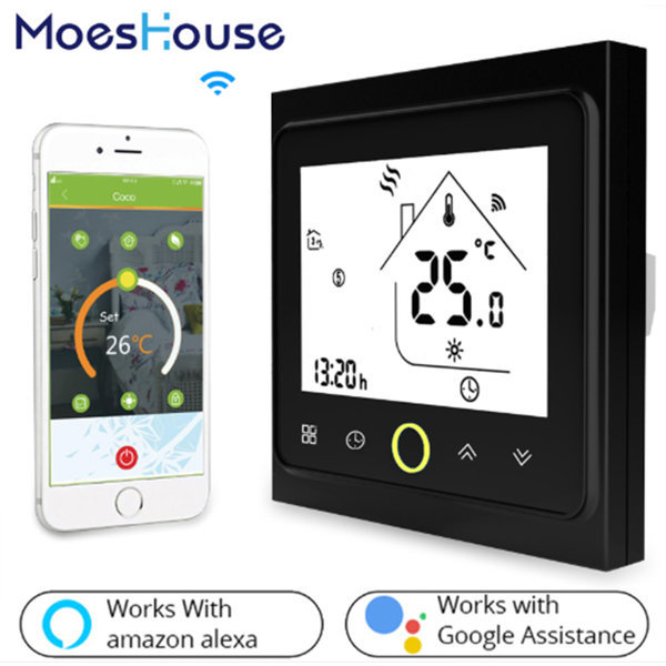 WiFi Thermostat 온도 Controller LCD Touch Screen