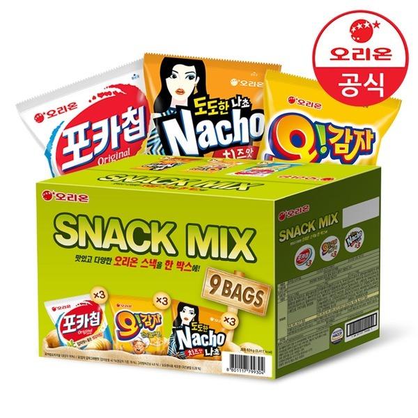 스낵믹스 1박스 (포카칩/오감자/나쵸) 9봉입