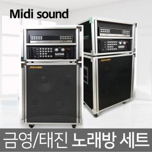 금영 태진 가정용 반주기 이동식 노래방 세트
