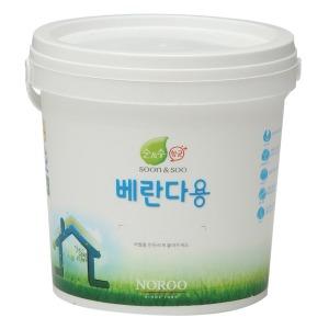 순앤수 항균페인트 베란다용 그레이 무광 2L