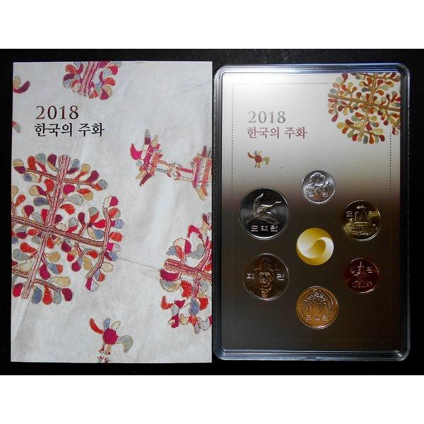 한국은행 2018년 민트 세트(6종 주화 동전 세트)