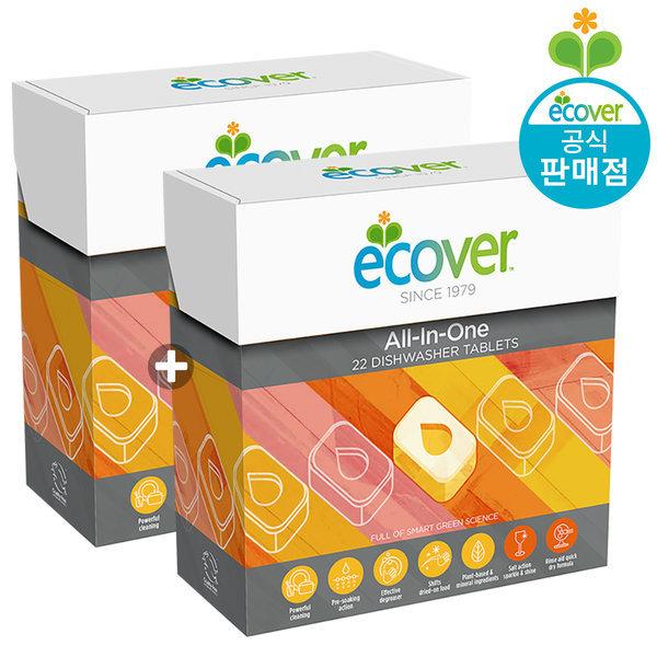 에코버 올인원 식기세척기세제 타블렛 440g 1+1