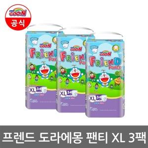 (공식) 군기저귀 프렌드 도라에몽 팬티 XL 3팩
