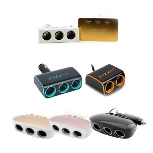 (KC인증) 차량용 LED USB 멀티소켓 시거잭/ USB+실버