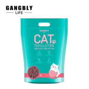 강블리라이프 고양이 두부 모래 8L X 6개 복숭아