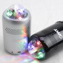 OMT 미러볼 LED 조명 블루투스스피커 OBS-M16 실버