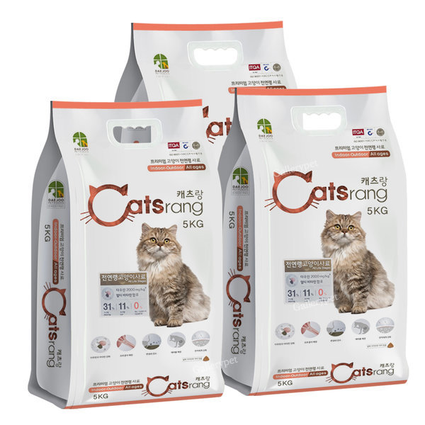 캣츠랑 전연령 5kgX3개 고양이사료 (당일출고)