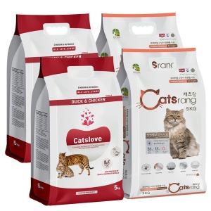 캣츠랑 고양이사료 5kgX4개/캣츠러브 5kgX4개