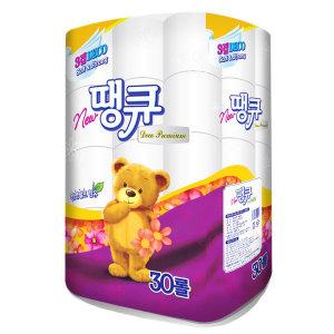 NEW땡큐 화장지 (30롤) / 3겹 두루마리 휴지 롤티슈