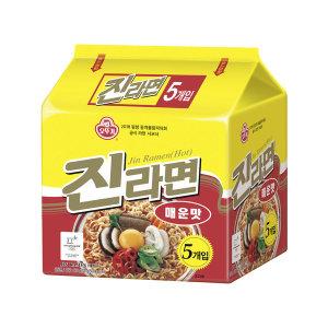 오뚜기 진라면 매운맛 멀티팩(120g5) 8개 (40봉)