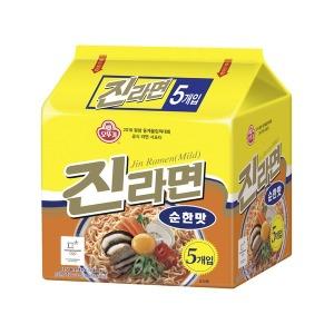 진라면 오뚜기 진라면 순한맛 멀티팩(120g5) 8개 (40봉)