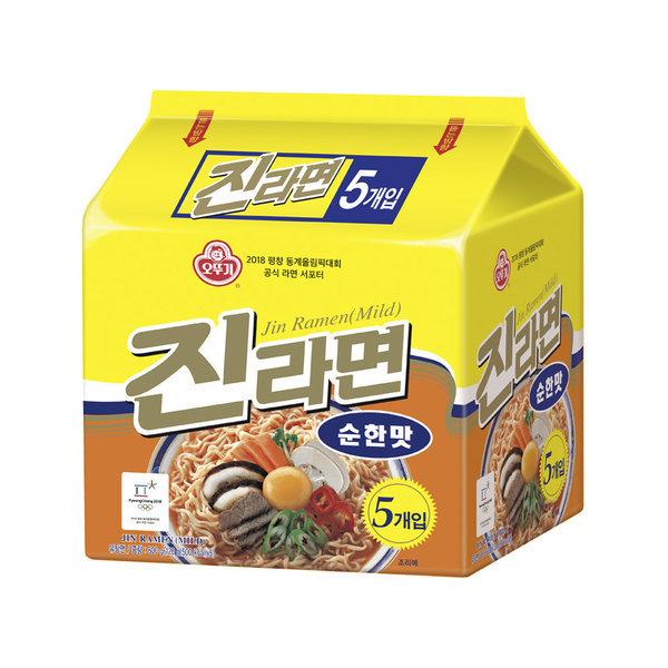 오뚜기 진라면 순한맛 멀티팩(120g5) 8개 (40봉)