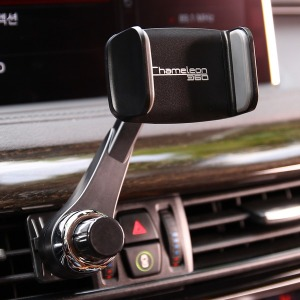 카멜레온360 송풍구형 블랙 차량용 휴대폰 거치대