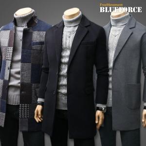 겨울신상 코트 더플/남자옷/자켓 하프롱 울 코트