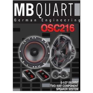카스피커 추천 MB QUART OSC 216 6.5인치 2 웨이 타입