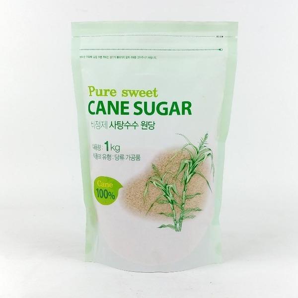 퓨어스윗 비정제 사탕수수원당 1kg/비정제갈색설탕