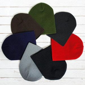 국산 고급 비니 (숏) 니트 모자 남녀공용 자수 가능