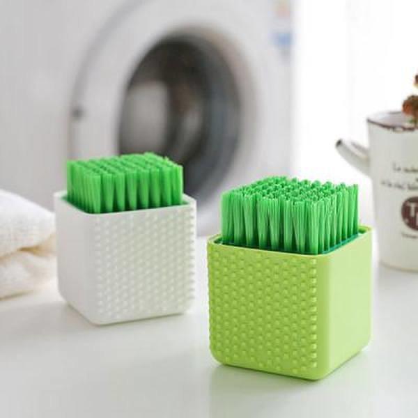 (핫트랙스) 그린 - 운동화 와이셔츠 속옷 손세탁 욕실청소 큐브 빨래솔
