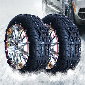 자동 스노우체인 자동차 우레탄 체인 차량 타이어