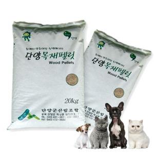단양목재펠릿 20kg/우드펠렛/고양이모래/화장실베딩