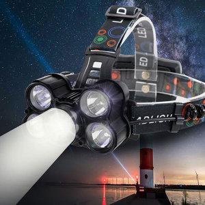 LED 충전식 헤드랜턴 등산 낚시 랜턴 5구 5200루멘VLG