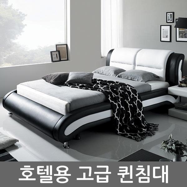 고급PU가죽 퀸침대/침대프레임