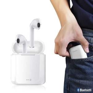 KC인증 블루투스 아이폰 호환 i8 무선 이어폰 /화이트