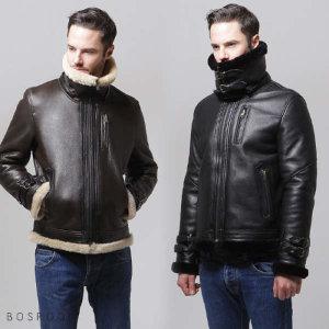 (현대Hmall) 보스룸 남성 천연 모피 양털 메리노 이중카라탈부착 bbry 무스탕 자켓 4컬러
