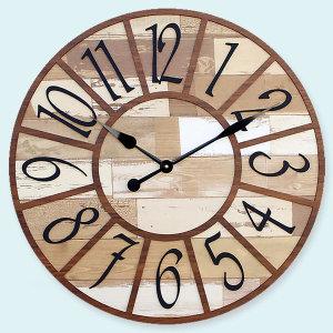 도레미벽시계 큰벽시계 몬태나 (브라운)