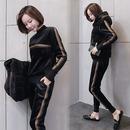 여성 트레이닝복3세트 티셔츠+후드조끼+밴딩바지 aq31