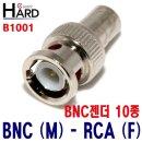 CCTV 케이블 BNC 젠더 모음 / BNC(M)-RCA(F) B1001