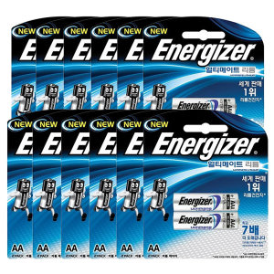 에너자이저 얼티메이트 리튬전지 AA2입 12개