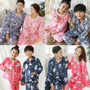 알콩단잠 패밀리룩 가족 커플잠옷 극세사 수면 파자마