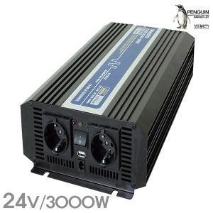 DC/AC 인버터 전류변환기 IVT3000B/DC24v 출력3000W