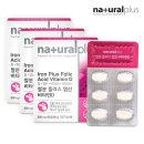 내츄럴플러스 철분플러스 엽산비타민D 60정 3박스
