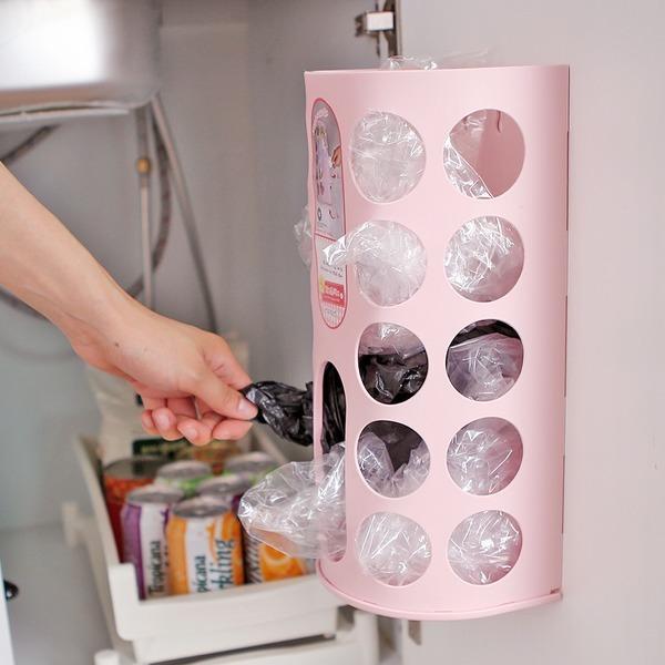 비닐보관함 정리함 비닐봉투정리함 주방용품