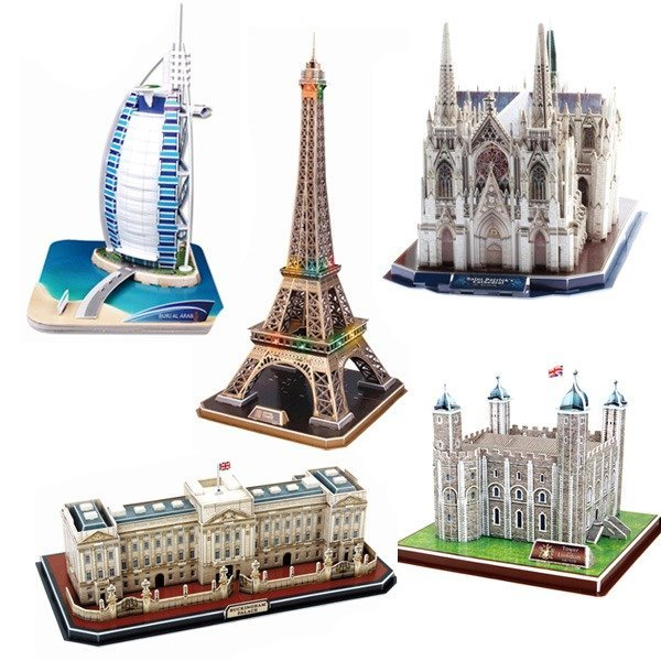 큐빅펀 3D 입체퍼즐/종이모형/건축물/LED조명/만들기
