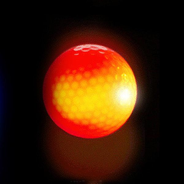 LED골프공 (빨강) 발광골프공 야광골프공 야간골프