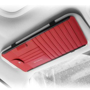 차량용 CD 선바이저 카드포켓 카드바이저 C형(레드)