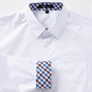 (교복왕(Gyobokwang))  교복왕  교복 와이셔츠 블루브라운 체크
