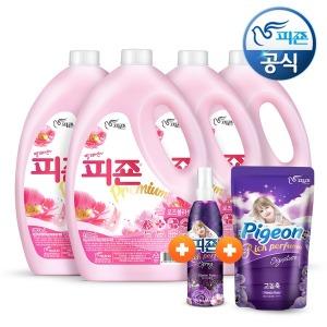 섬유유연제 로즈(핑크) 3100ml 4개 +사은품증정_랜덤