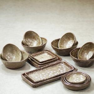 도자기 홈세트/예쁜 식기/2인 4인/그릇 세트/밥그릇