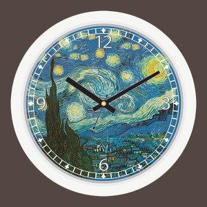 도레미벽시계 올댓클락-고흐 명화 (별이 빛나는 밤)