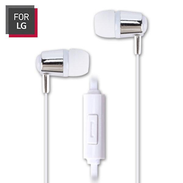 FOR LG LGC-AEP08 스마트폰 이어폰 화이트