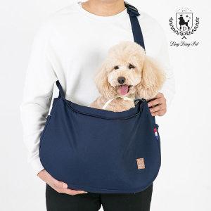 딩동펫 강아지 이동가방 애견구름슬링백_네이비_L