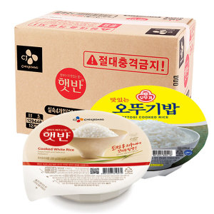 오뚜기밥/햇반200g 48개 즉석밥/발아현미/흑미/오곡밥