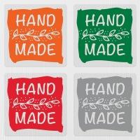 투명 핸드메이드 땡큐 감사 선물 포장 투명 스티커