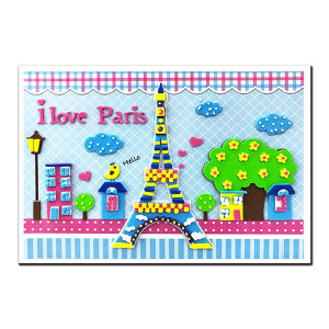 EVA 입체퍼즐 스티커 세계문화유산 에펠탑